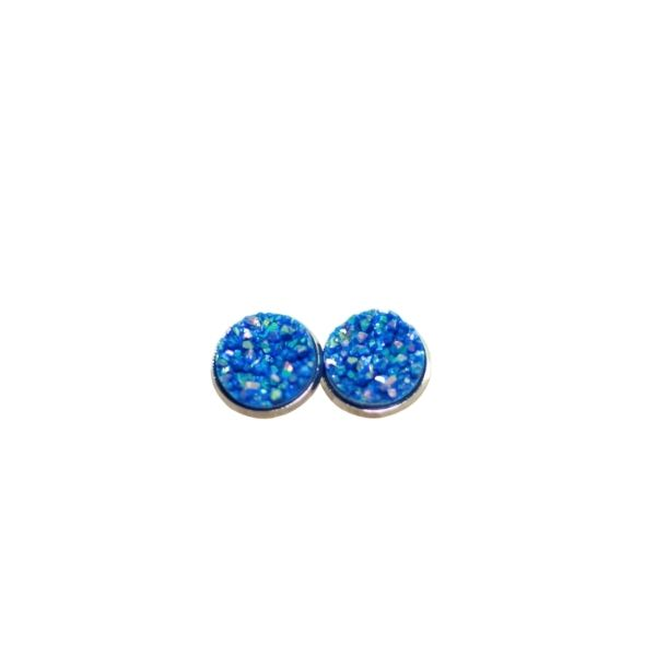 blue druzy stud earrings (1)