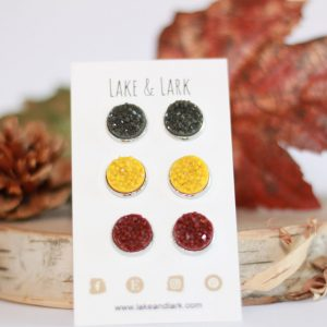 autumn stud earrings set