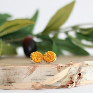 pumpkin pie stud earrings