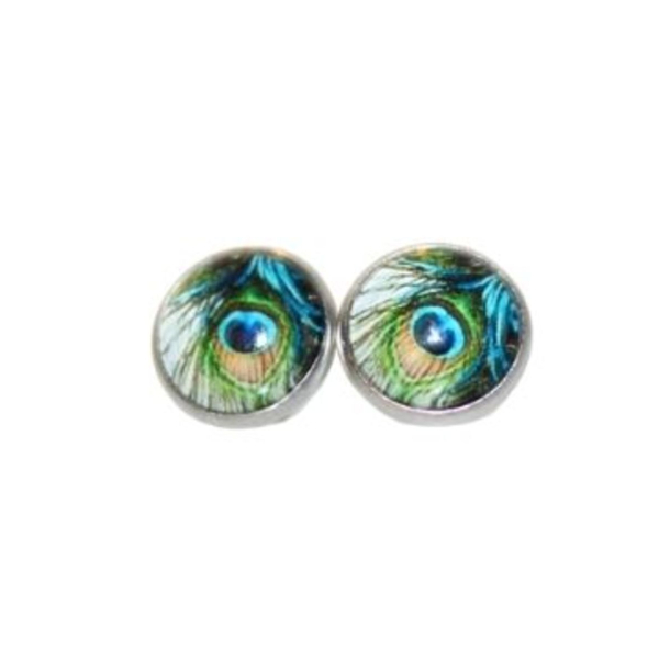peacock feather earring gift