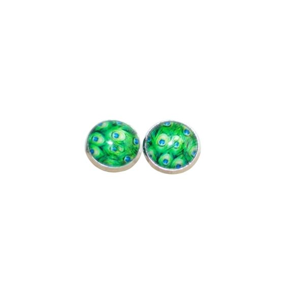 peacock stud earrings copy