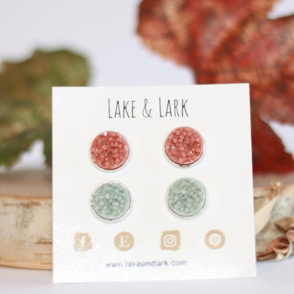 earthy fall stud earrings