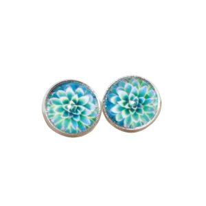 mint succulent stud earrings