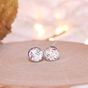 fall leaves stud earrings