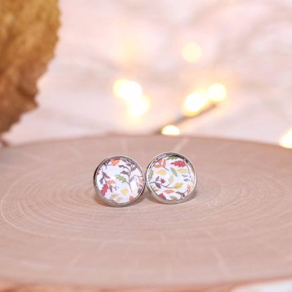 fall leaves stud earrings