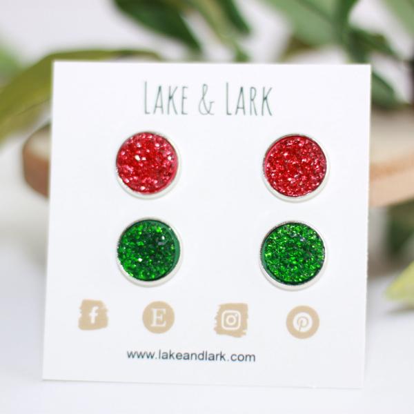 christmas earrings