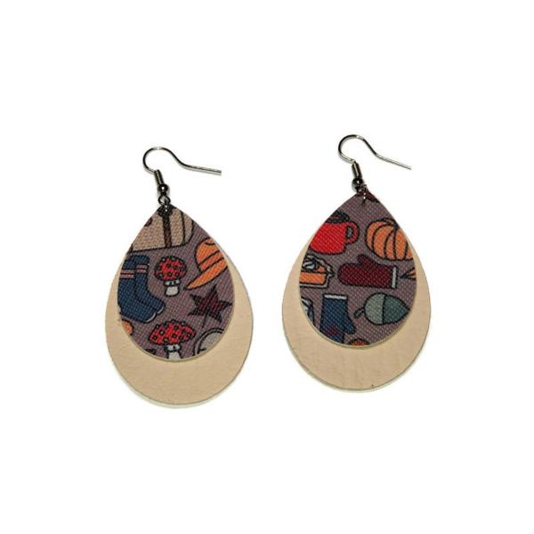 vegan leather fall fashion statement earrings