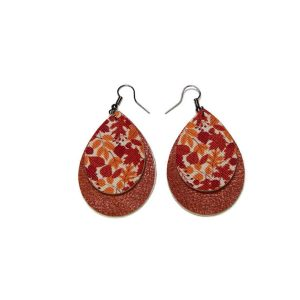 fall leaves statement earrings