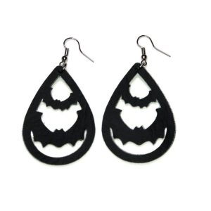 halloween bat statement earrings