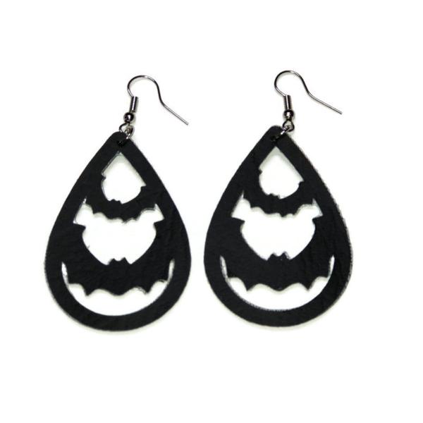 halloween bat statement earrings