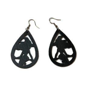 black witch halloween statement earrings