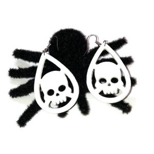 skull halloween earrings