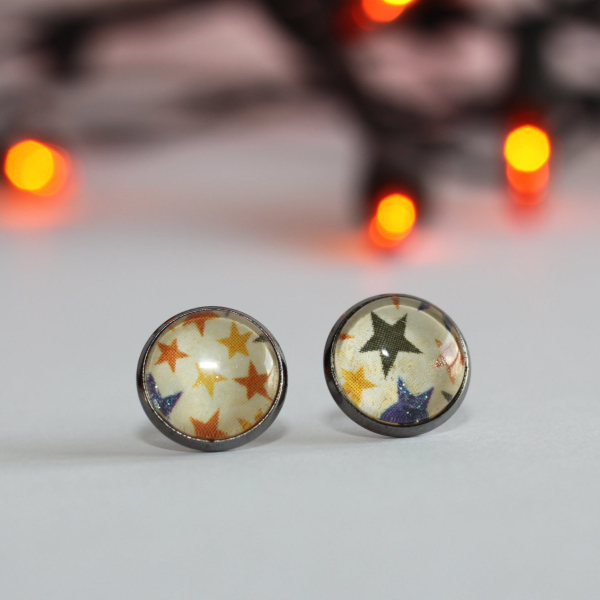 vintage halloween stud earrings