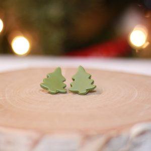 winter pine earrings