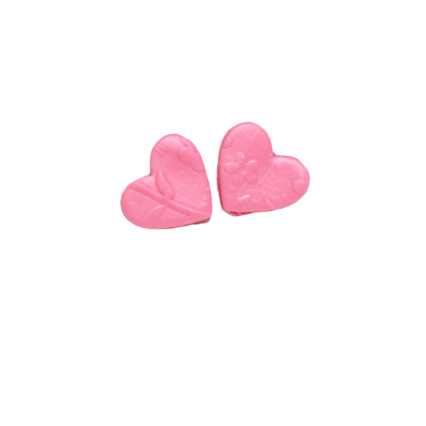 blush pink heart valentine stud earrings lake and lark