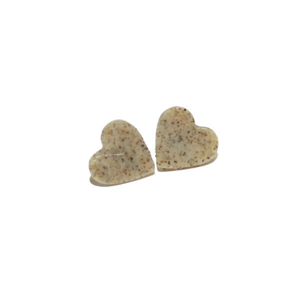 granite heart valentine earrings