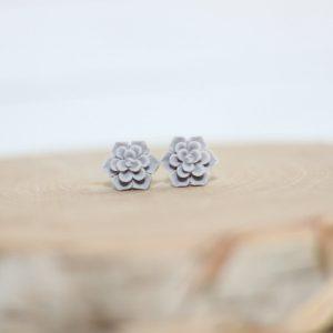 Gray Earrings