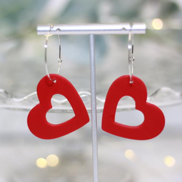 heart hoop valentine earrings lake and lark