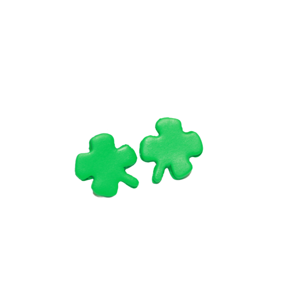 lucky shamrock stud earrings