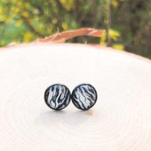 zebra animal print stud earrings