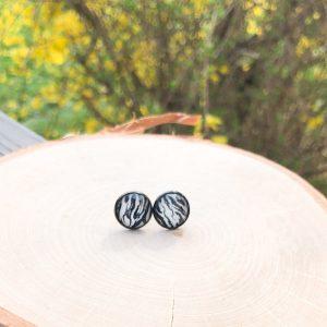 glitter zebra animal print stud earrings