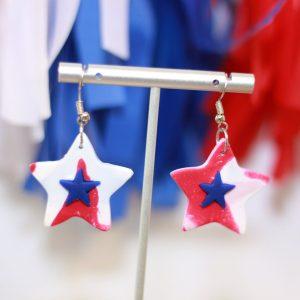 july fourth star earrings