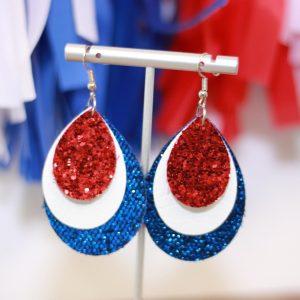 glitter teardrop statement earrings