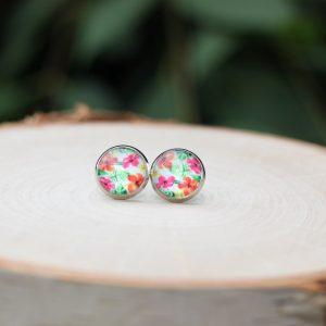 hibiscus flower earrings