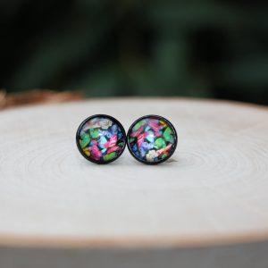 rainbow butterfly earrings