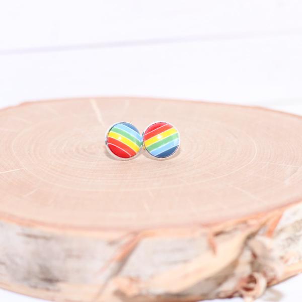 rainbow striped earrings