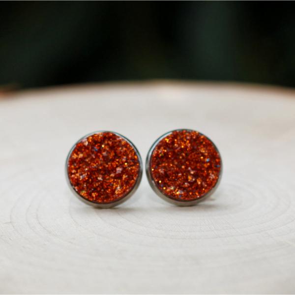 pumpkin spice stud earrings