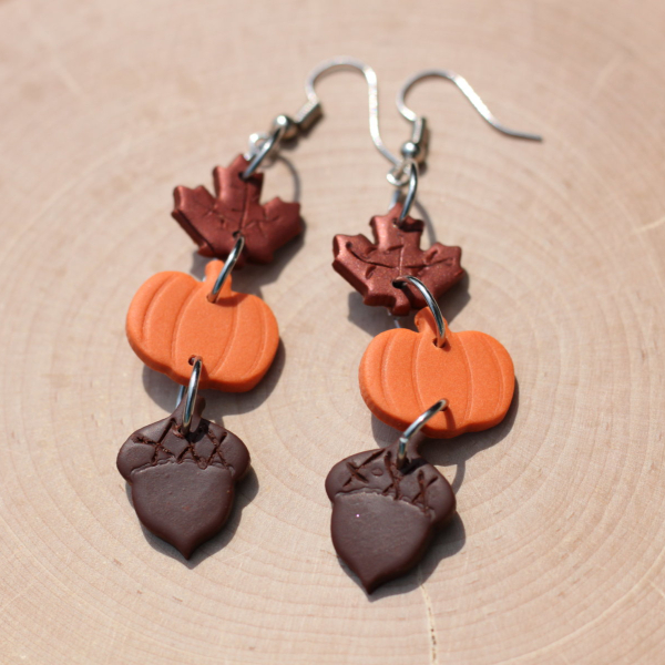 fall harvest statement earrings