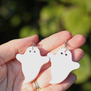 clay halloween ghost earrings