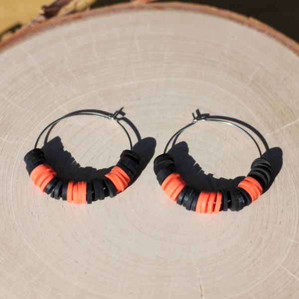 clay halloween hoop earrings