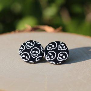 clay skull earrings