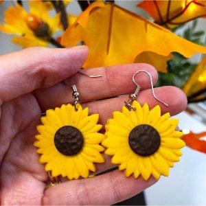 fall sunflower earrings